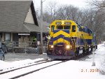 One of ESPN 2206s last trains on the Octoraro and Wilmington Northern Branch of East Penn Railroad